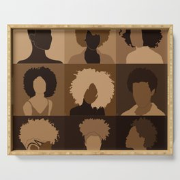 FOR BROWN GIRLS COLLECTION COLLAGE Serving Tray
