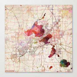 Madison map Canvas Print