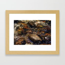 Stream and Stones Framed Art Print