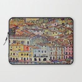 """Gustav Klimt """"Malcesine on Lake Garda"""" Laptop Sleeve"""