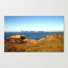 Discover Down - Under! Canvas Print