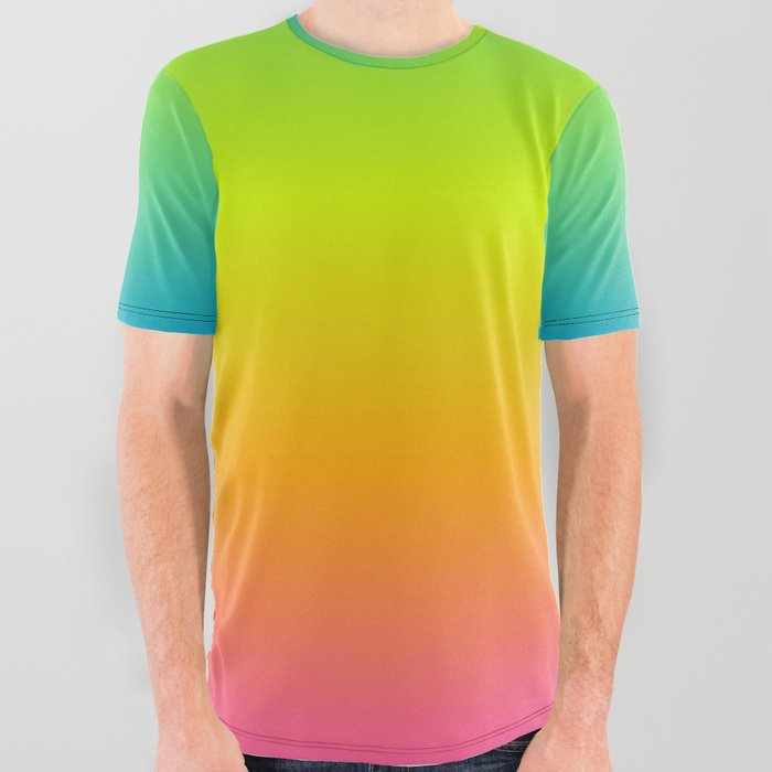 Pride Gradient All Over Graphic Tee