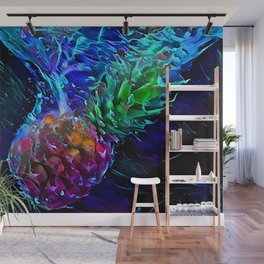 Pineapple: Splash Into Blacklight Wall Mural