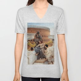 The Colosseum 1896 by Sir Lawrence Alma Tadema | Reproduction Unisex V-Neck