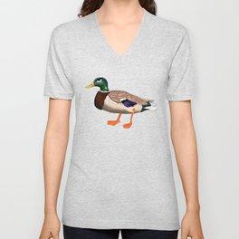 Angry duck / Le canard fôché Unisex V-Neck