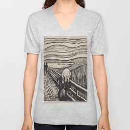 The Scream (1895) by Edvard Munch Unisex V-Neck