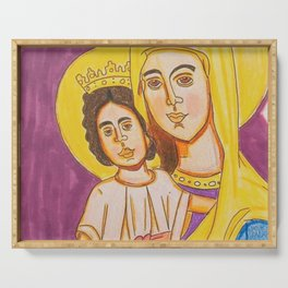 Mary and Child Jesus Serving Tray