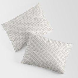 Hexagon Light Gray Pattern Pillow Sham