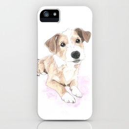 Jack russell terrier love iPhone Case