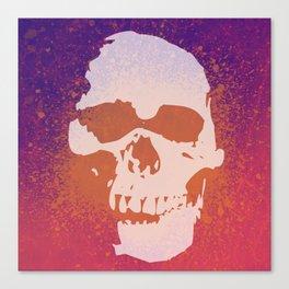 Skully Splatter Canvas Print