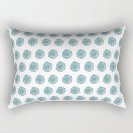 happy blue watercolor flowers Rectangular Pillow
