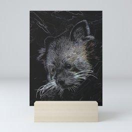 Abstract Red Panda Mini Art Print