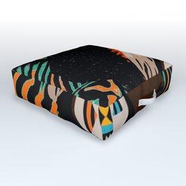 Zulu girl with zebraprint Outdoor Floor Cushion