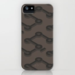 Truffle Abstract Keyhole Geo iPhone Case