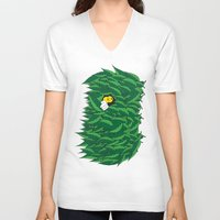 jungle V-neck T-shirts featuring Jungle by Bad Luck