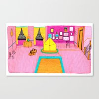 royal tenenbaums Canvas Prints featuring The Royal Tenenbaums Tent. by Alxndra Cook