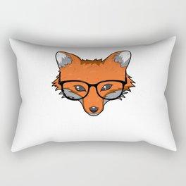 Smart Fox With Glasses Fox Lover Gift Rectangular Pillow