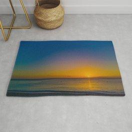 Setting Sun And Sea Rug