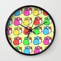 yoshi Wall Clocks featuring yoshi by zamii070