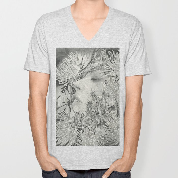 Apiphobia - Fear of Bees Unisex V-Neck
