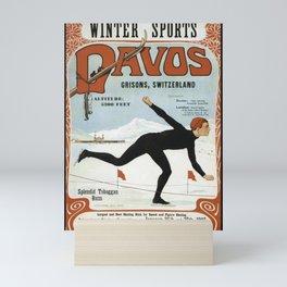Swiss Winter Skating Sports Mini Art Print
