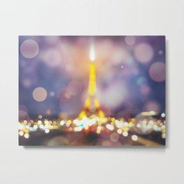 Abstract Eiffel Tower Metal Print