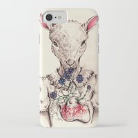 silence of the lambs iPhone & iPod Cases featuring Silence of the Lambs by Marie Toh