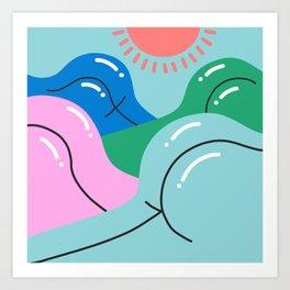 Sun's Out, Buns Out Art Print