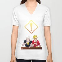 hetalia V-neck T-shirts featuring APH: Beer Friends by Jackce