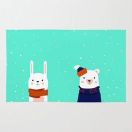 hare and bear Rug