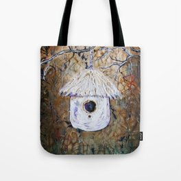 Boreal Bird House Tote Bag