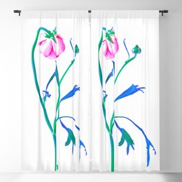 One Flower - Study 3. Back Blackout Curtain