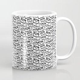 Black&white envelopes everywhere Coffee Mug