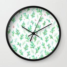 Under the Mistletoe Wall Clock