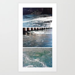 calm of the water. Art Print