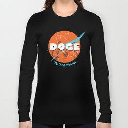 Doge Nasa Variant (To The Moon!) Long Sleeve T-shirt