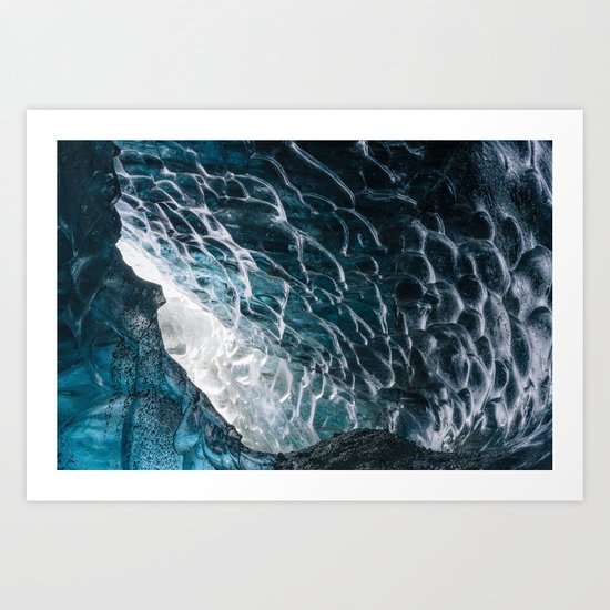 Cave of waves Art Print