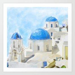 Greece Pillow Art Print