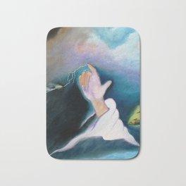 A BULLET MET BY GOD Bath Mat