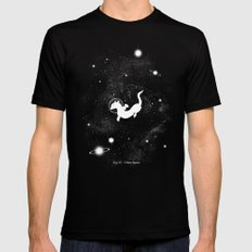 Otter Space Black Mens Fitted Tee MEDIUM