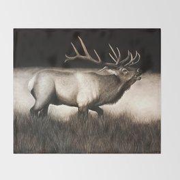 Bull Elk Throw Blanket