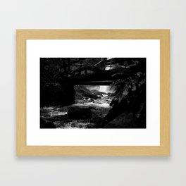 Waterfall Bridge Framed Art Print