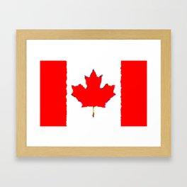 Fancy Flag: Canada Framed Art Print