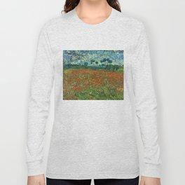 Vincent Van Gogh Poppy Field Long Sleeve T-shirt