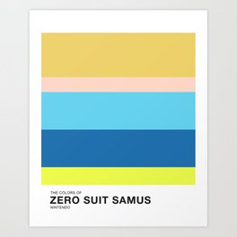 The Colors of Zero Suit Samus Art Print