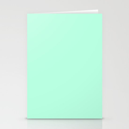 SOLID MINT Stationery Cards