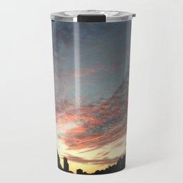 city sky silhouette Travel Mug