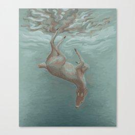 Sinking Deer Canvas Print