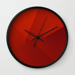 The red line Wall Clock