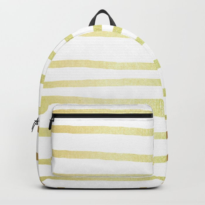 Simply Drawn Stripes 24k Gold Backpack
